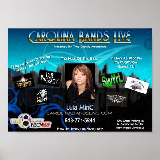 Carolina-Bänder Plakatdruck