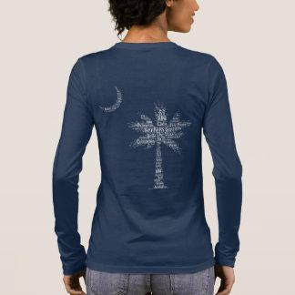 """Carolina-Designerpalmetto-""""südliches Mädchen-"""" Langarm T-Shirt"""