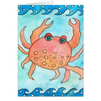 Carolina die Krabbe Karte