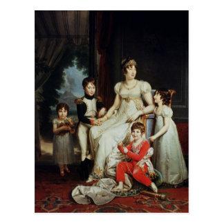Caroline Bonaparte und ihre Kinder Postkarte
