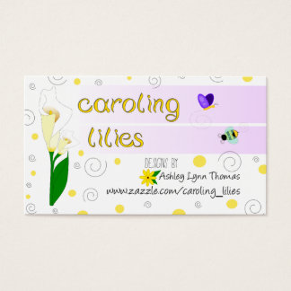 Caroling Lilien-Karte Visitenkarte