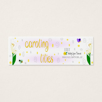 Caroling Lilien Mini Visitenkarte