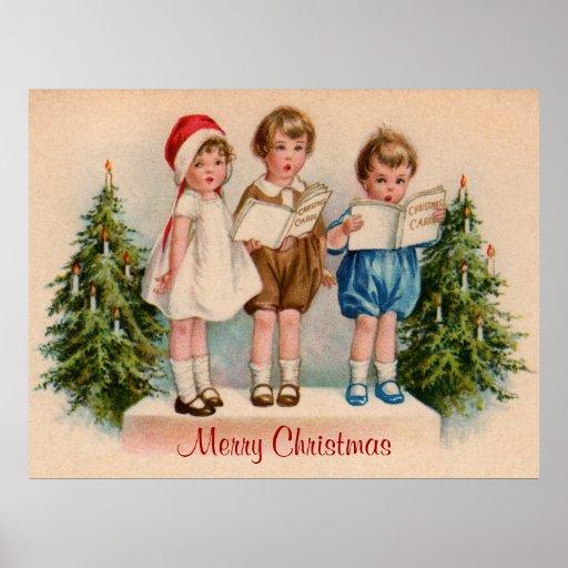 Caroling scherzt frohe Weihnacht-Plakat