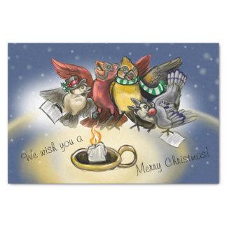 Caroling Vogel-Weihnachten Seidenpapier