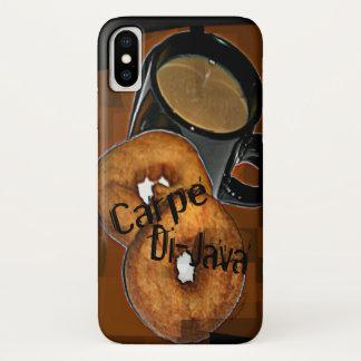 Carpe Di-Java Kaffee u. Schaumgummiringe passt iPhone X Hülle