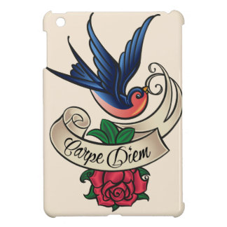 Carpe Diem Drossel-Tätowierung iPad Mini Cover