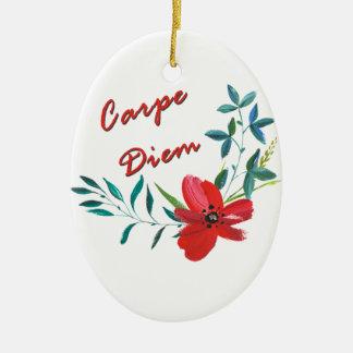 Carpe Diem Keramik Ornament