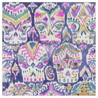 Carpe Diem lila Boho Watercolor-Zuckerschädel Stoff