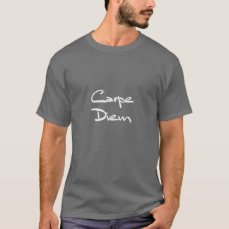 CARPE DIEM moderner cooler Text T-Shirt