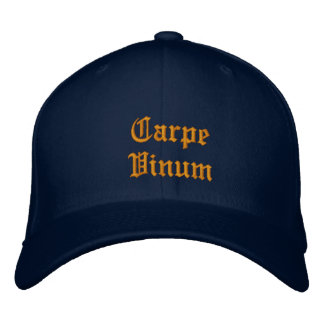 Carpe Vinum (ergreifen Sie den Wein), ballcap Bestickte Kappe