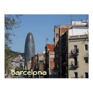 Carrer De Badajoz und Torre Agbar, Barcelona Postkarte