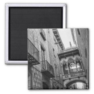 Carrer Del Bisbe Magnet: Barcelona Quadratischer Magnet
