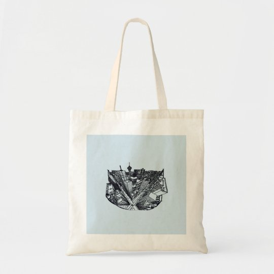 carrier bag - city in 3 point perspective tragetasche