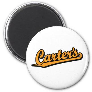 Carters in der Orange Runder Magnet 5,1 Cm