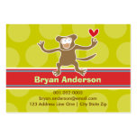 Cartoon-Affe-KinderFoto-Profil/Namenskarte Mini-Visitenkarten