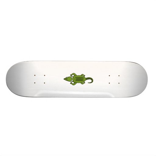Cartoon-Alligator Personalisierte Skatedecks