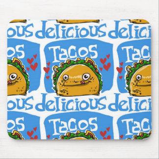 Cartoon-Artillustration des Tacos köstliche Mousepad