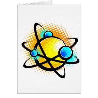 Cartoon-Atom Karte