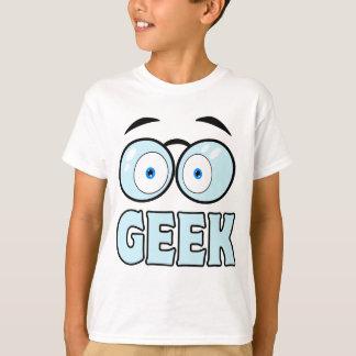 Cartoon-Augen mit Gläser GEEK T-Shirt