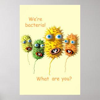 Cartoon-Bakterienplakat Poster