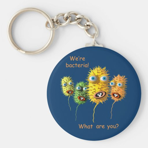 Cartoon-Bakterienschlüsselkette Schlüsselanhänger