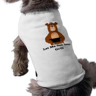 Cartoon-Bär mit GRILLEN Grill Shirt