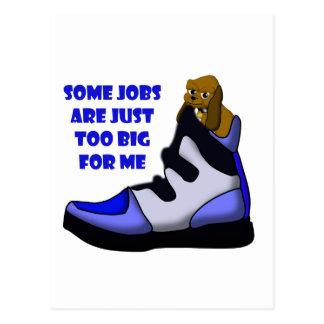 Cartoon-Beagle im Großen Schuh, Job ist für mich Postkarte