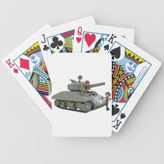 Cartoon-Behälter und Soldaten an der Leichtigkeit Bicycle Spielkarten
