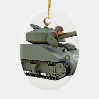 Cartoon-Behälter und Soldaten an der Leichtigkeit Keramik Ornament