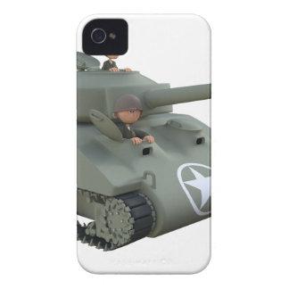 Cartoon-Behälter und Soldaten, die vorwärts gehen iPhone 4 Case-Mate Hülle
