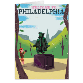 Cartoon Benjamin Franklin Philadelphia Karte