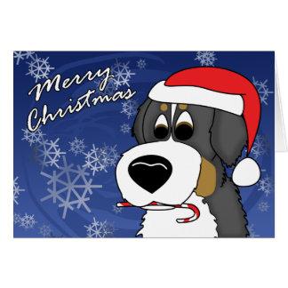 Cartoon Bernese Gebirgshundeweihnachtskarte Karte