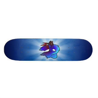 Cartoon Betta Fische/siamesische kämpfende Fische 19,1 Cm Old School Skateboard Deck