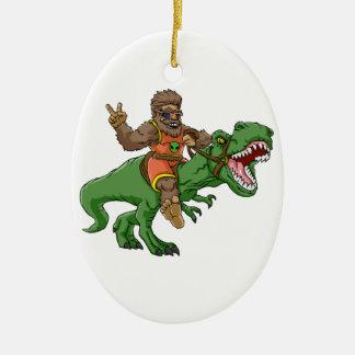 Cartoon BigfootCartoon t rex-T rex Bigfoot Keramik Ornament