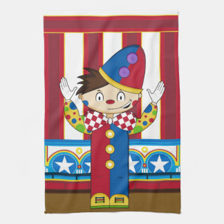 Cartoon Bigtop Zirkus-Clown Handtuch