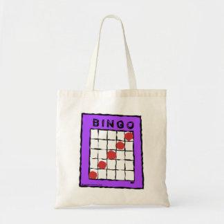 Cartoon-Bingo-Kartenentwurfstasche Budget Stoffbeutel