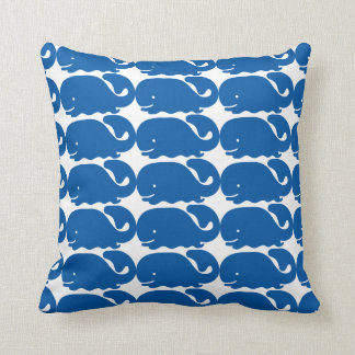 Cartoon-Blauwal-Muster Zierkissen