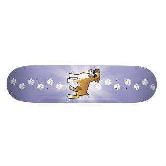 Cartoon-Boxer Skateboardbrett
