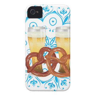 Cartoon-Brezel mit Bier 2 iPhone 4 Case-Mate Hüllen
