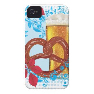 Cartoon-Brezel mit Bier 3 iPhone 4 Case-Mate Hülle
