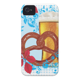 Cartoon-Brezel mit Bier 3 iPhone 4 Cover