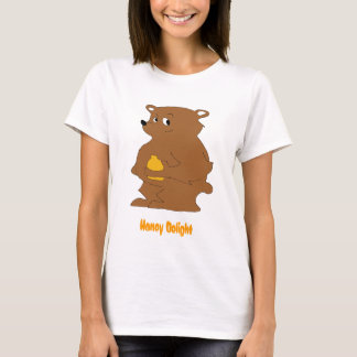 Cartoon-Brown-Bär mit Orangensaft T-Shirt