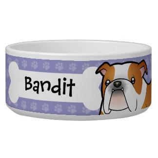 Cartoon-Bulldogge Wassernapf Für Hunde