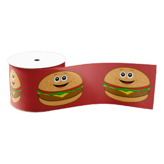 "Cartoon-Cheeseburger 3"" Ripsband"