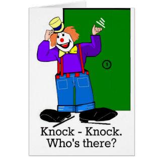 Cartoon-Clown leicht romantischer Schlag-Schlag Karte
