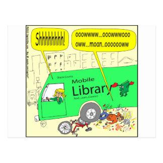 Cartoon der beweglichen Bibliothek 297 Postkarten