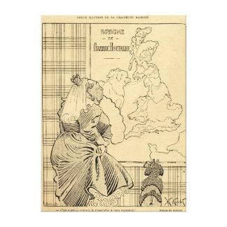 Cartoon der Königin Victoria von Le Rire Gespannter Galerie Druck