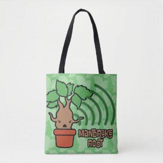 Cartoon, der Mandrake Charakter-Kunst schreit Tasche