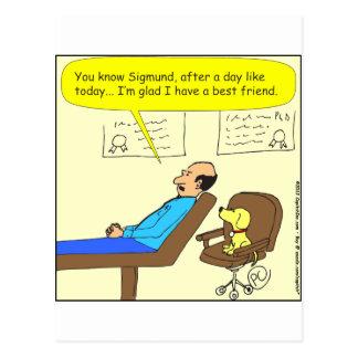 Cartoon des besten Freunds 272 in der Farbe Postkarte
