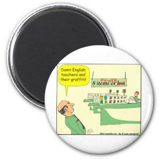 Cartoon des englischen Lehrer-278 in der Farbe Runder Magnet 5,7 Cm